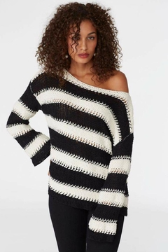 Elliott Lauren Stripe Knit Sweater - Product List Image