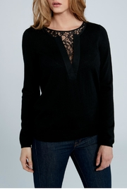 Elliott Lauren Lace Inset Sweater - Product Mini Image