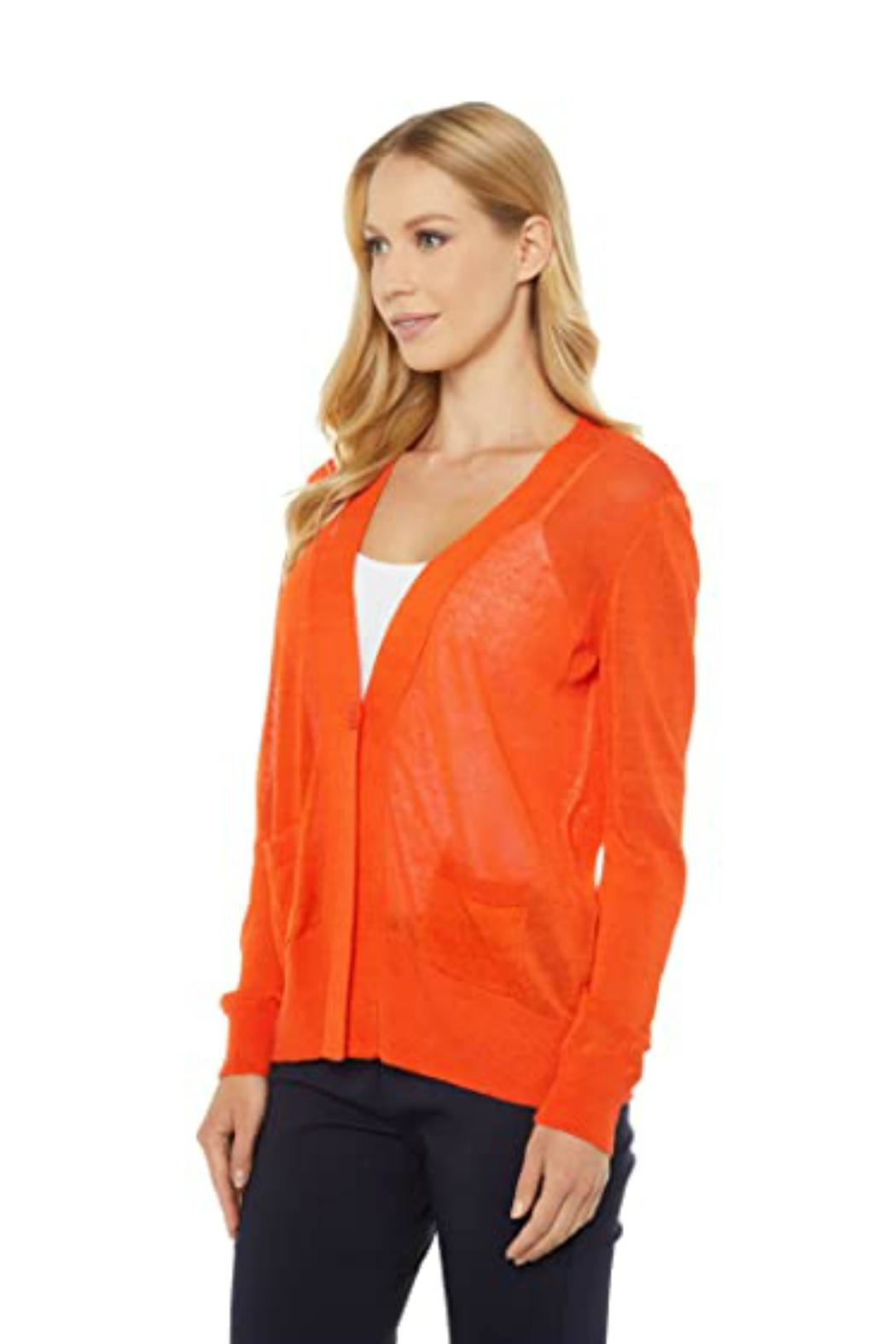 Elliott Lauren Tangerine Cardigan - Side Cropped Image