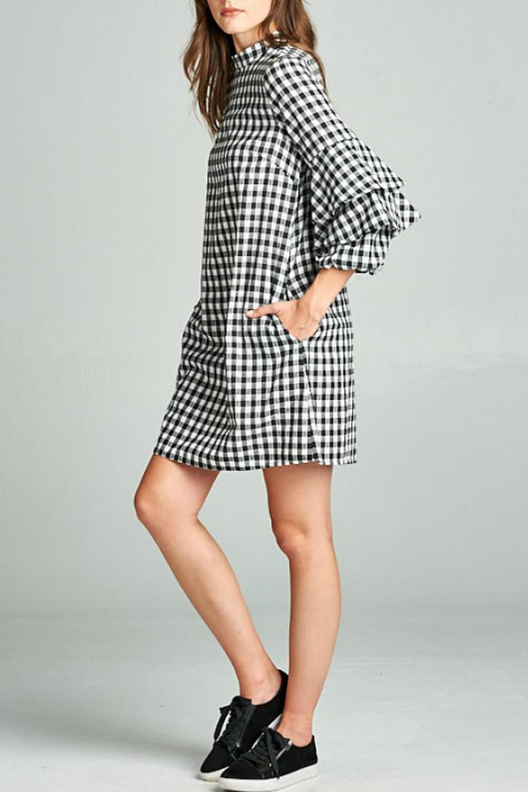 Ellison Checkered Dress - Front Full Image