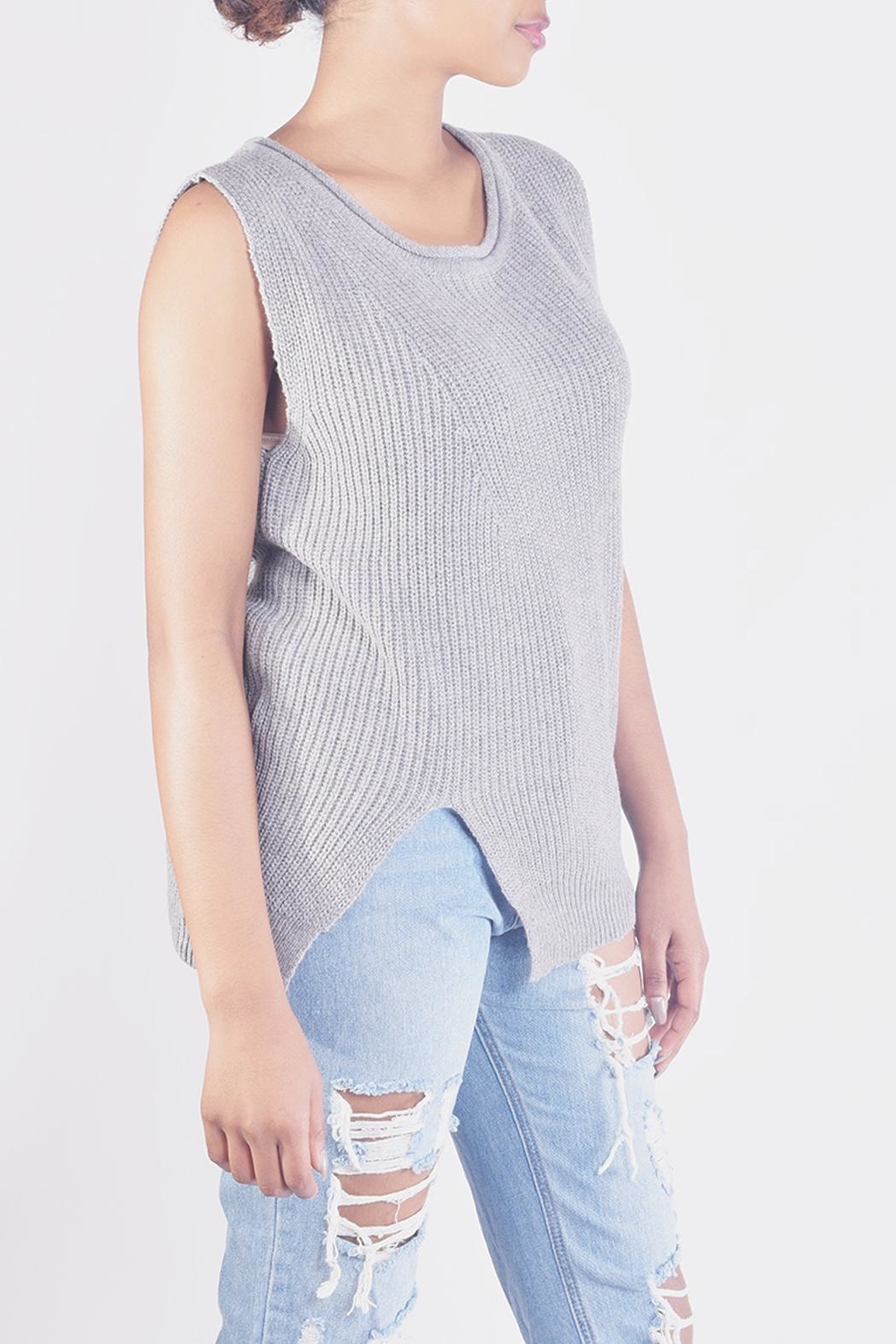 Ellison Chic Sleevless Knit-Top - Front Full Image