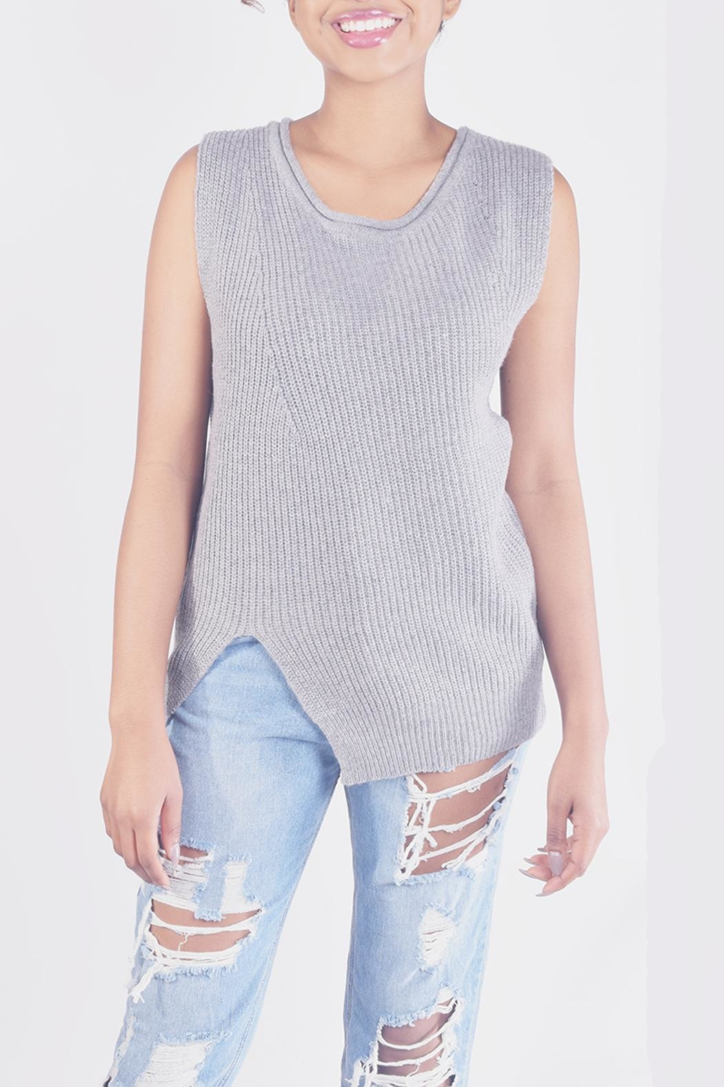 Ellison Chic Sleevless Knit-Top - Main Image