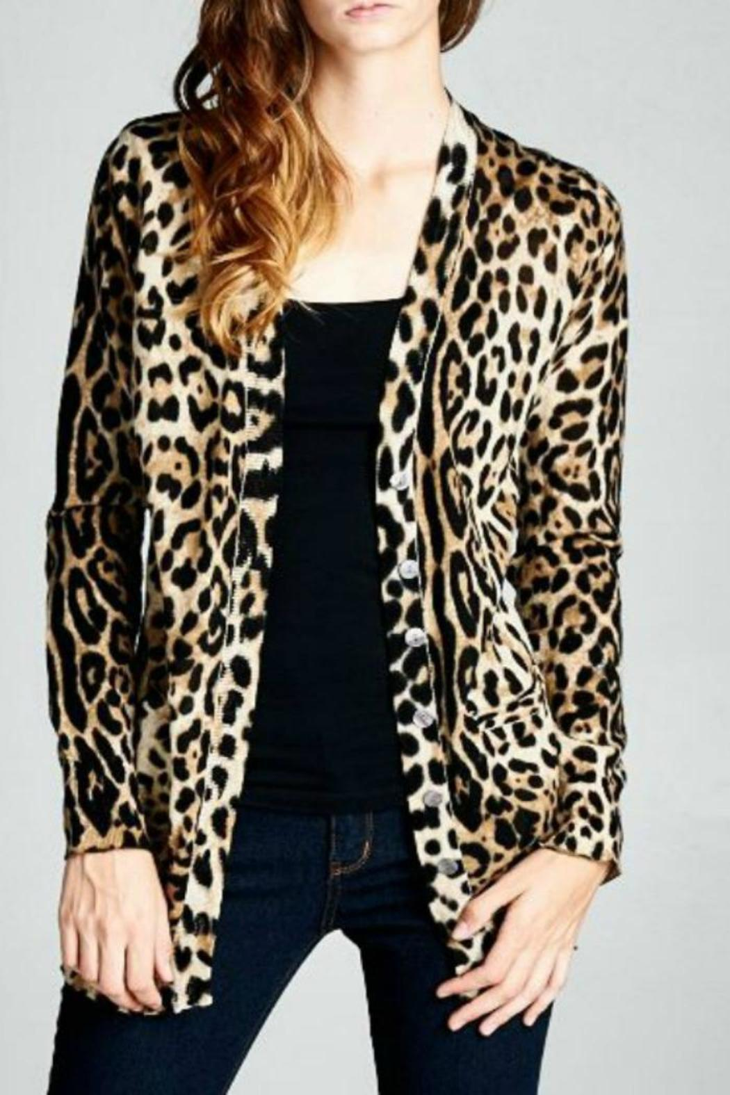 Ellison Classic Leopard Cardigan - Front Cropped Image