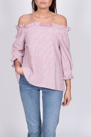 Ellison Coral Off Shoulder Top - Product Mini Image