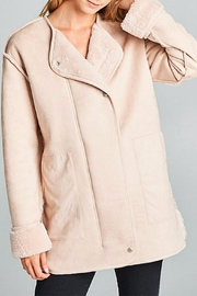 Ellison Cozy Suede Jacket - Front cropped