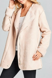 Ellison Cozy Suede Jacket - Front full body