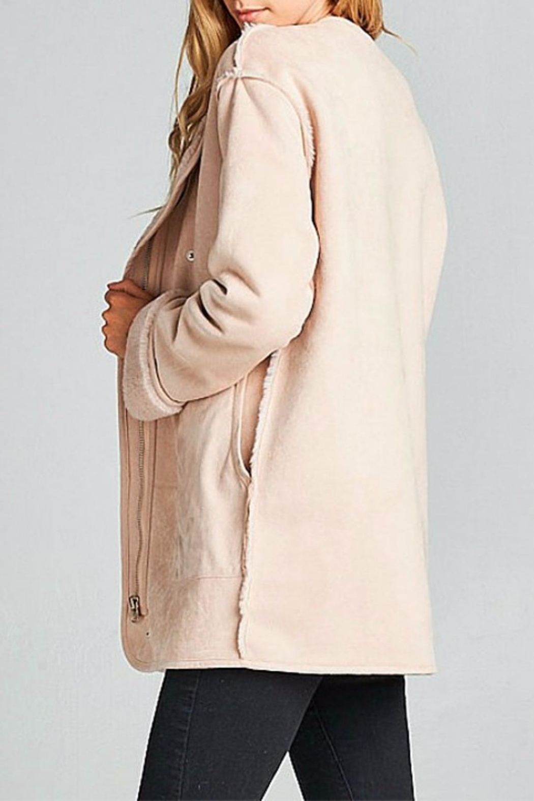 Ellison Cozy Suede Jacket - Side Cropped Image
