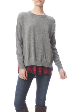Shoptiques Product: Plaid Underlay Sweater
