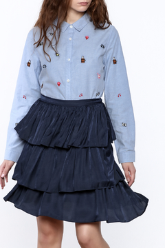 Ellison Embroidered Button Down - Product List Image