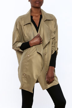 Shoptiques Product: Olive Flowy Trench