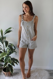 Ellison Helen Stripped Romper - Product Mini Image
