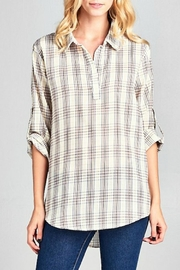 Ellison Multi Plaid Top - Product Mini Image