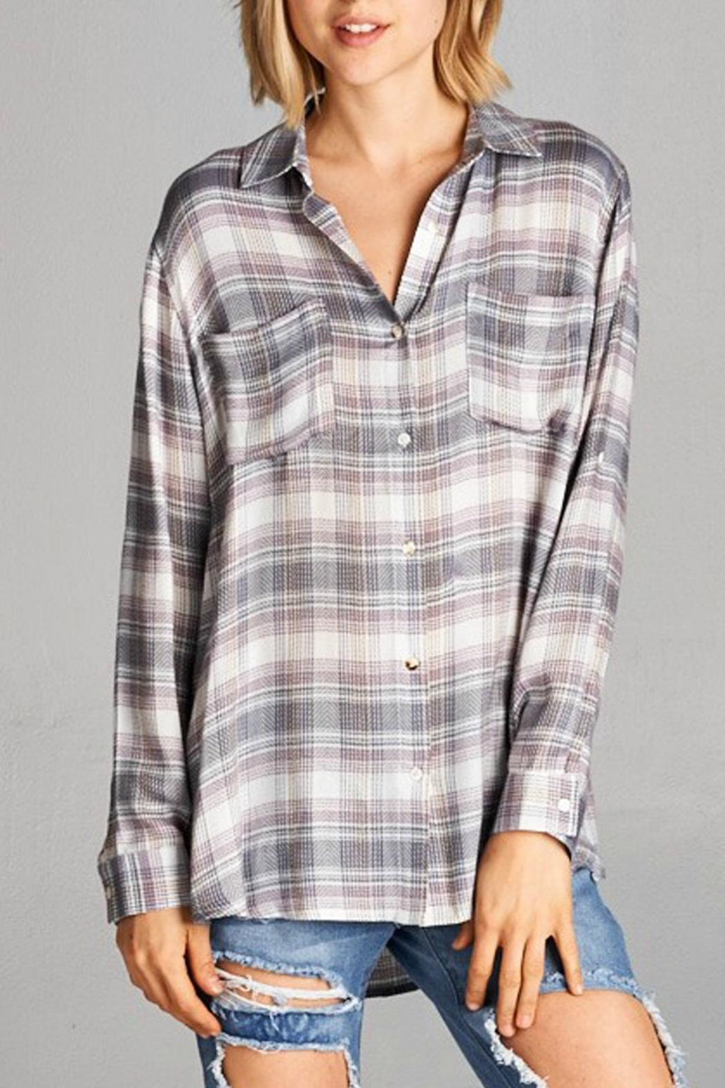 951b69f214670 Ellison Pastel Plaid Shirt from New Jersey by Making Waves — Shoptiques