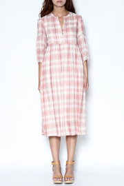 Ellison Pink Plaid Dress - Front full body