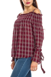 Ellison Plaid Crinkled Top - Product Mini Image