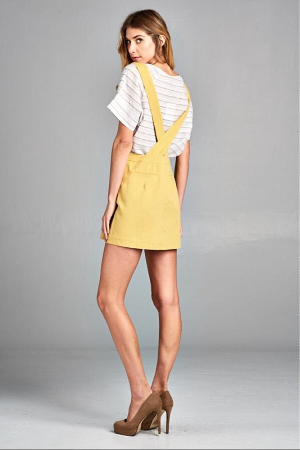 Ellison Retro Overall Skirt - Front Full Image