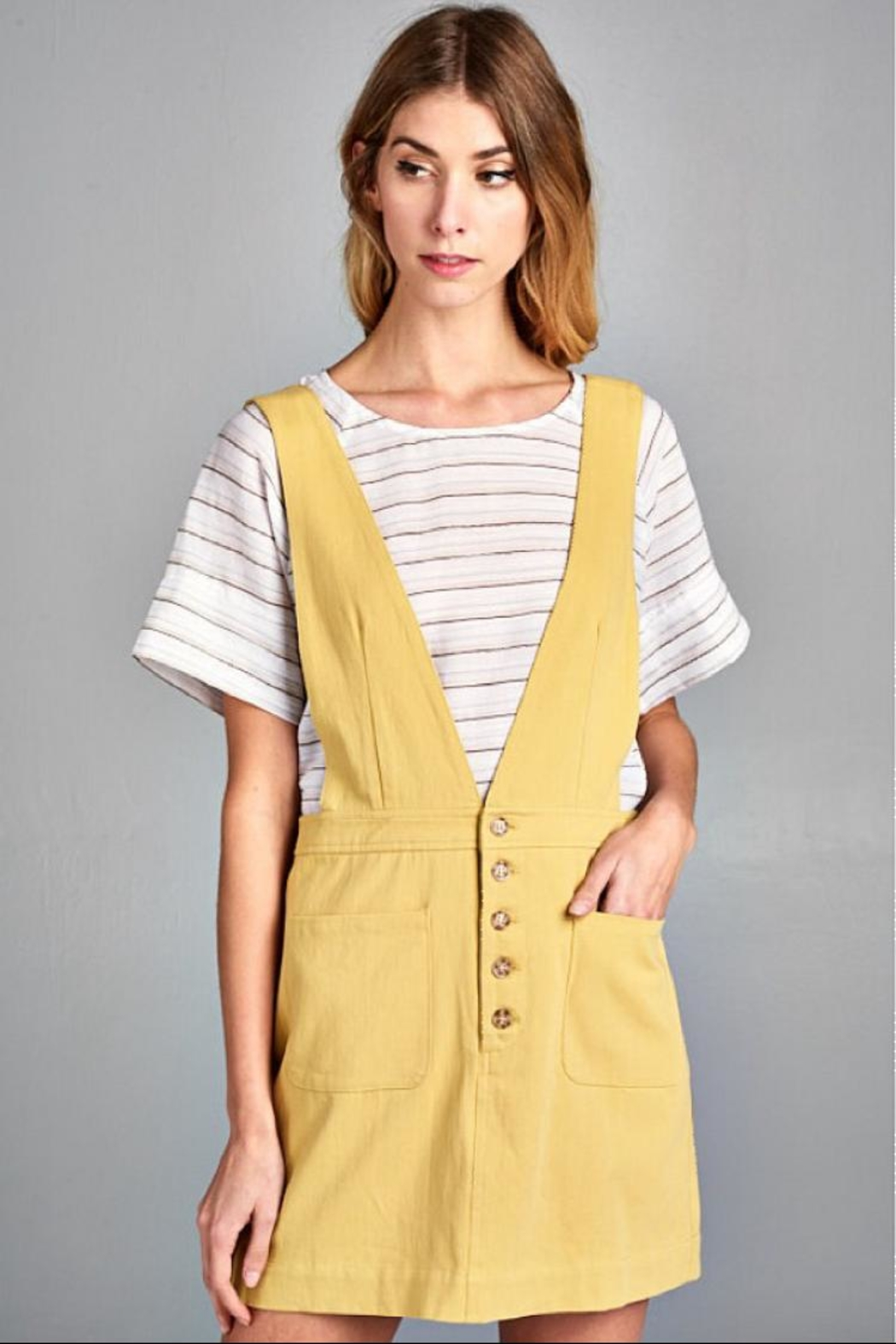 Ellison Retro Overall Skirt - Side Cropped Image
