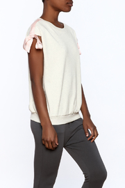 Ellison Beige Cap Sleeve Sweatshirt - Product Mini Image
