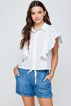 Ellison Ruffled Button-Down Top - Product List Image