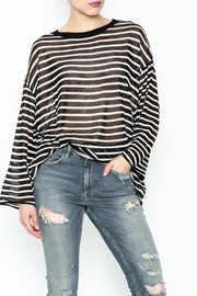 Ellison Sheer Stripe Bell Sleeve Sweater - Product Mini Image