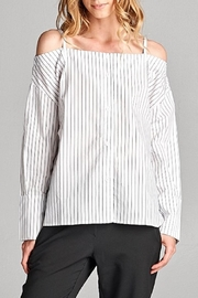 Ellison Striped Cold Shoulder Top - Product Mini Image