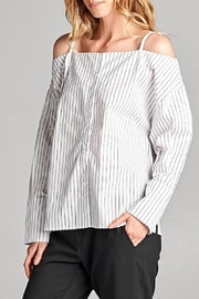 Ellison Striped Cold Shoulder Blouse - Product Mini Image
