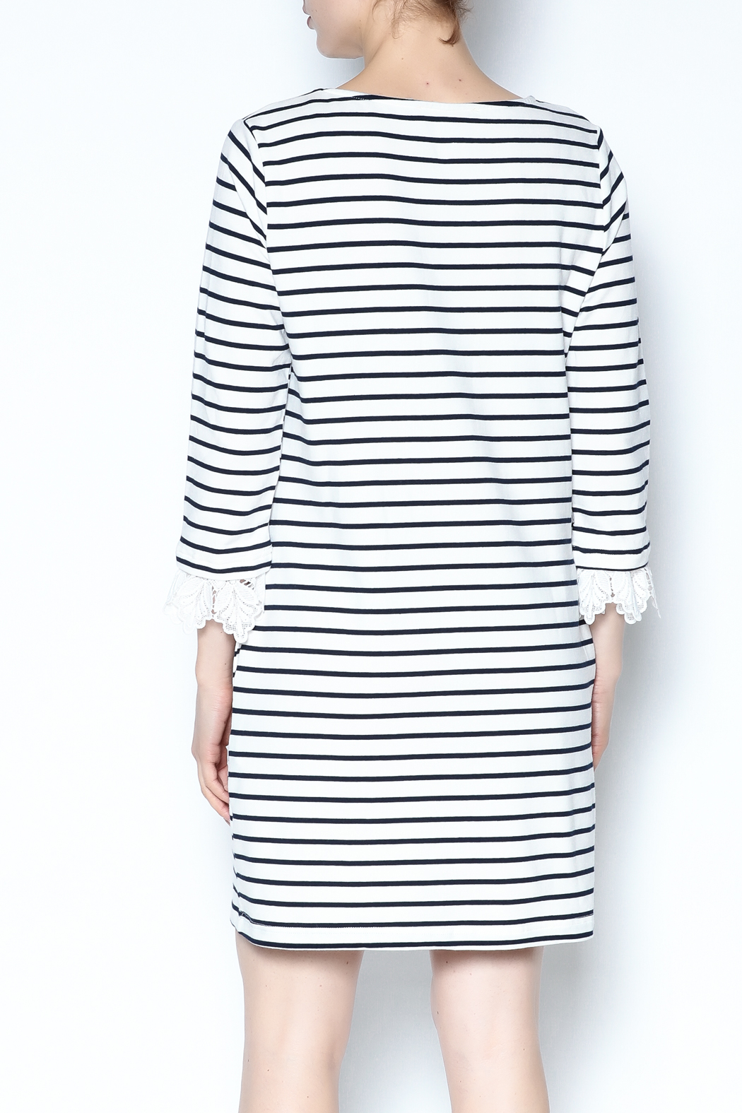 Ellison Striped Dress - Back Cropped Image
