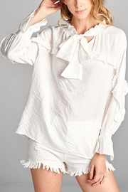 Ellison White Ruffle Button Down - Product Mini Image