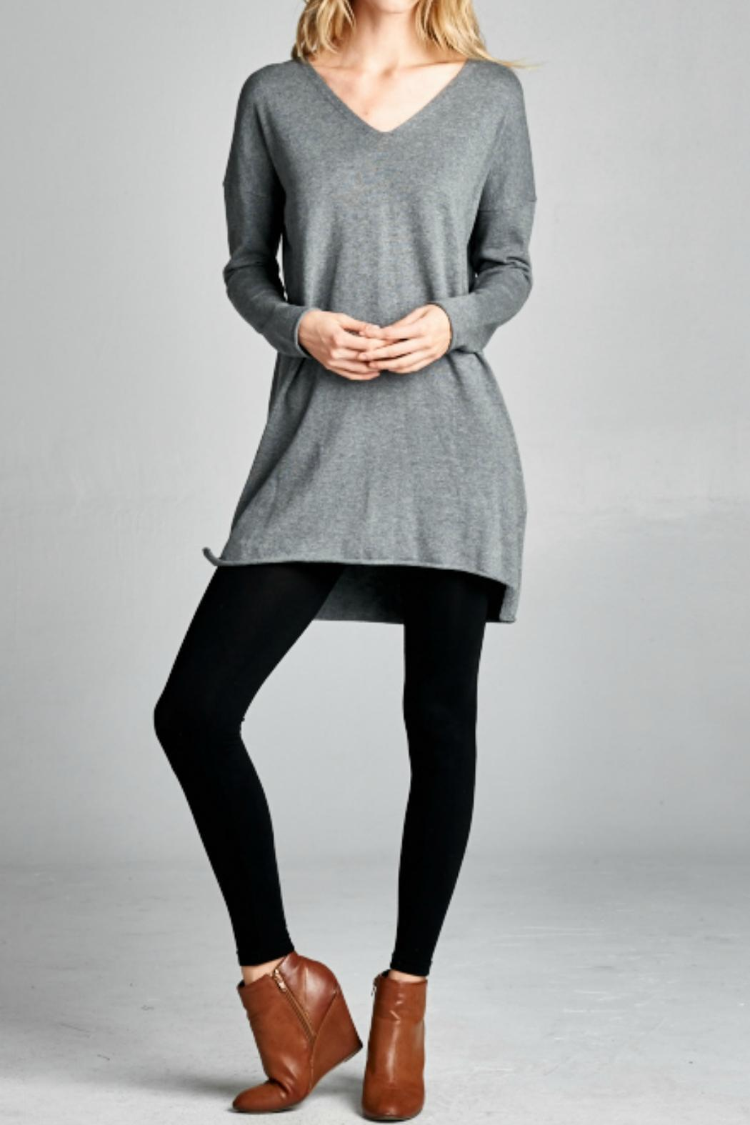 Ellison Apparel Grey Tunic Sweater from Florida by Momni — Shoptiques