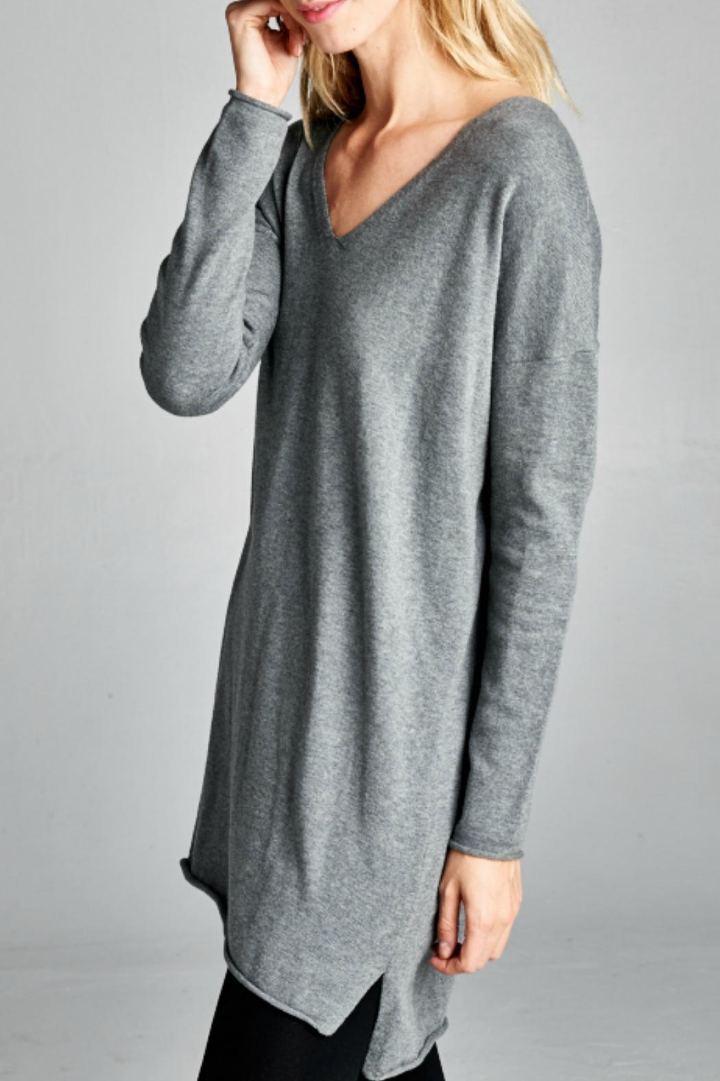 Grey Tunic Sweater Fashion Skirts