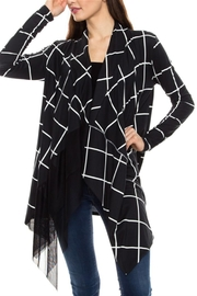Elm Black/white Cardigan - Product Mini Image