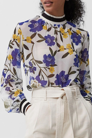 French Connection Eloise Sheer Floral Top - Product Mini Image