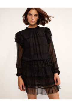 Shoptiques Product: Eloise Sheer Sleeve Ruffle Dress