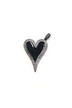 Lovely Lisa Elongated Sparkling-Heart Charm - Product List Image