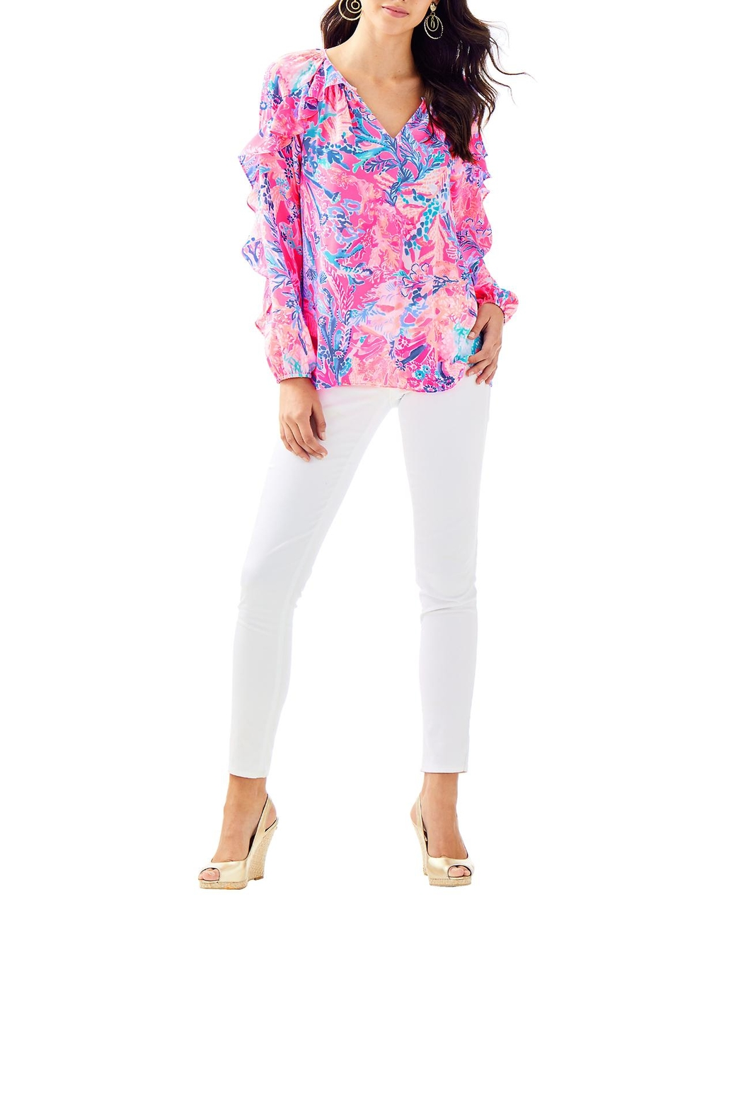 Lilly Pulitzer Elora Top - Side Cropped Image