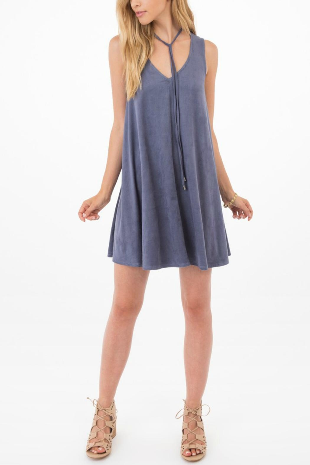 ALB Anchorage Elowan Suede Dress - Back Cropped Image