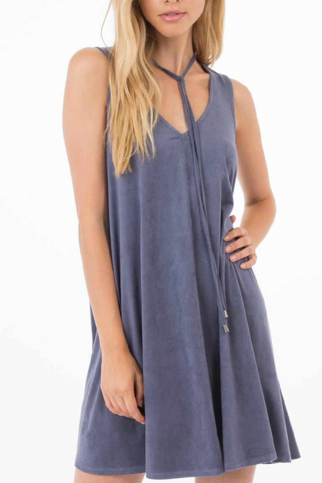 ALB Anchorage Elowan Suede Dress - Front Cropped Image