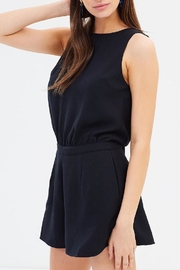 GRACE WILLOW Elyse Black Playsuit - Front cropped