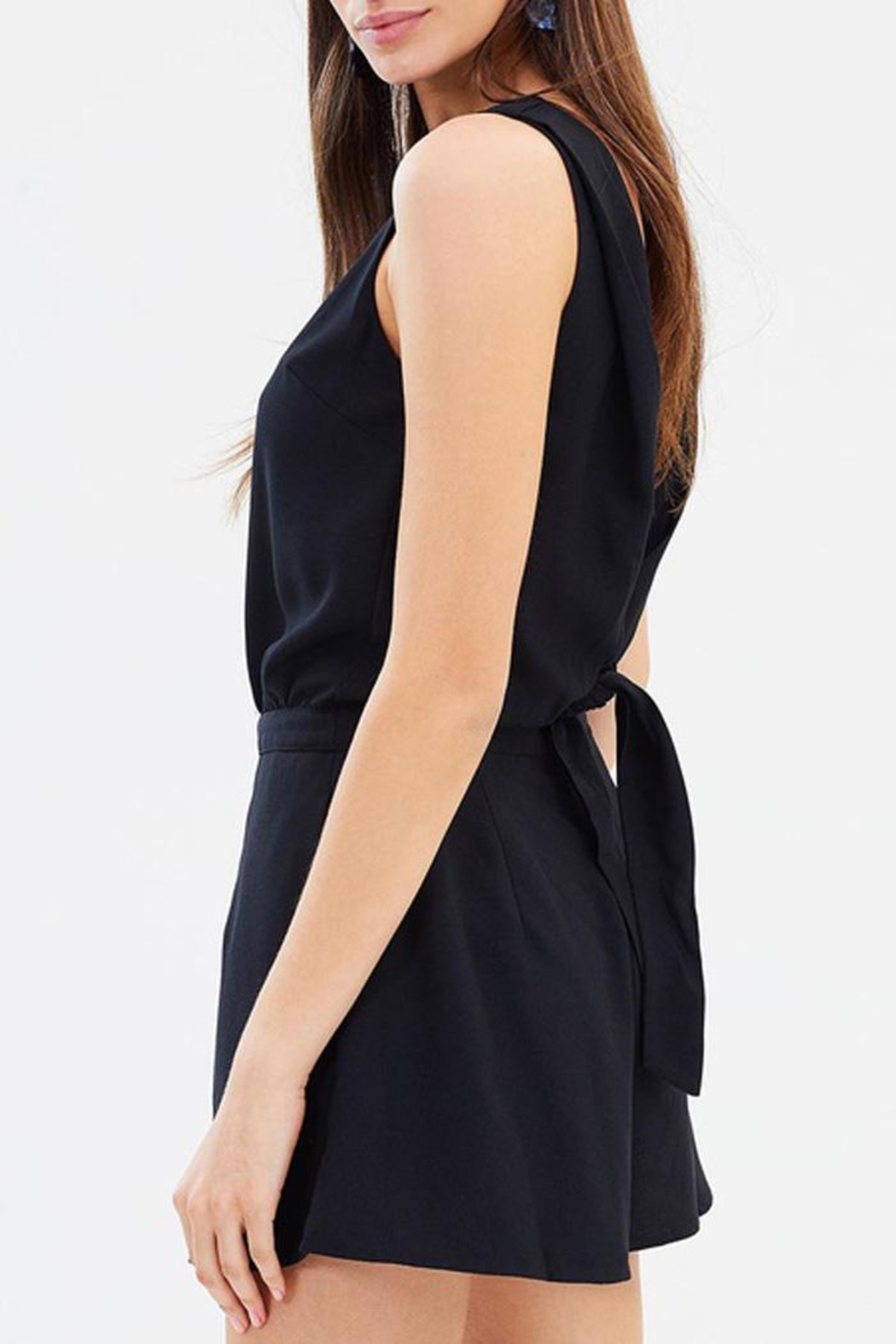 GRACE WILLOW Elyse Black Playsuit - Front Full Image