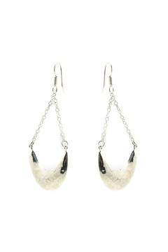 Shoptiques Product: Suspended Crescent Earrings