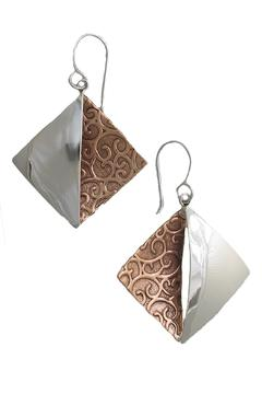 Shoptiques Product: Embossed Diamond Earrings