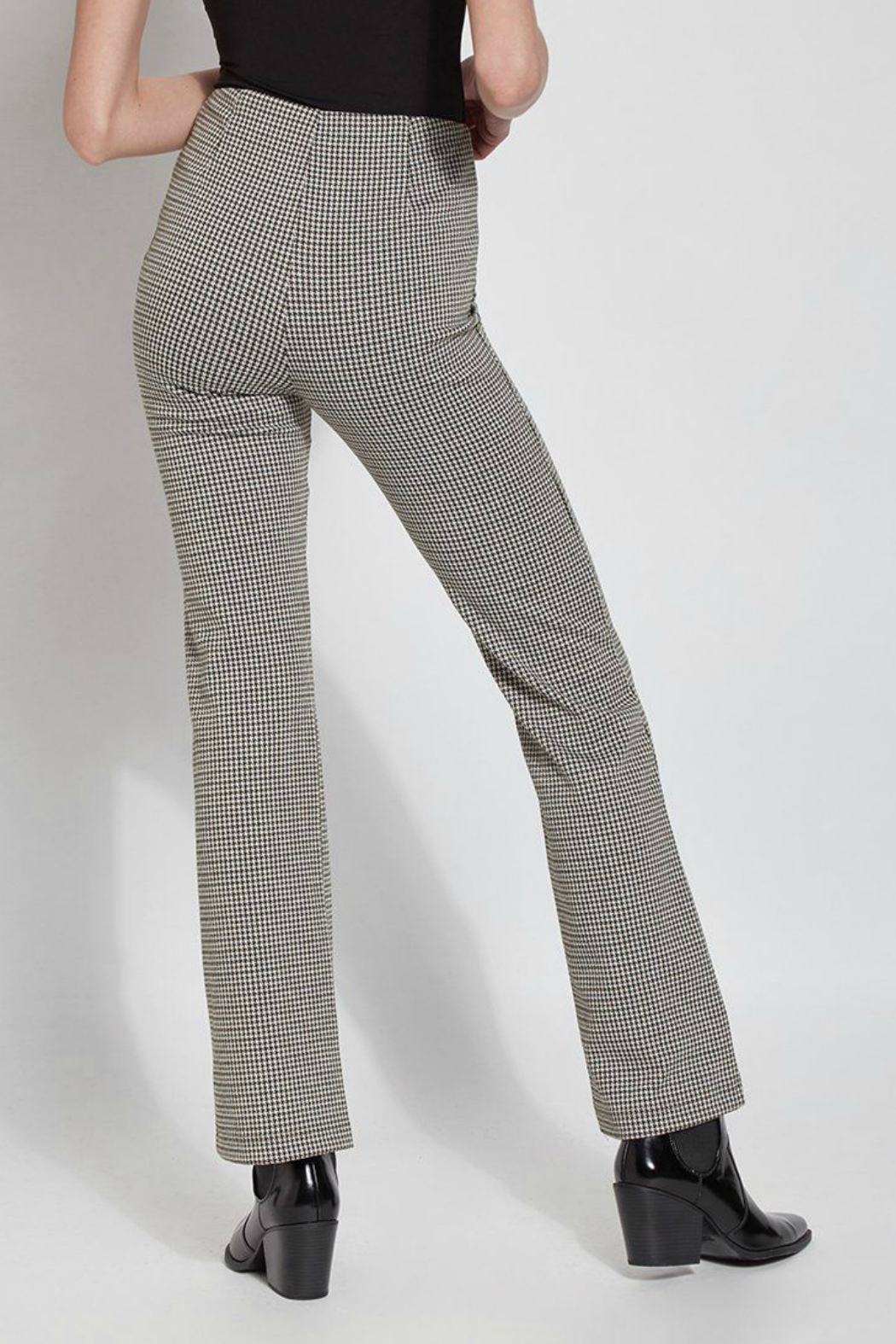 Lysse Elysse Houndstooth Bootcut Pull-on Pant - Side Cropped Image