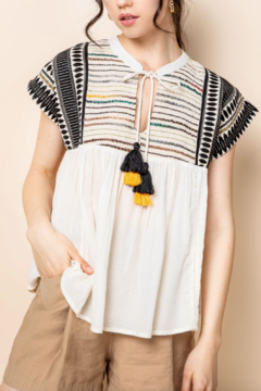 Thml Emb Babydoll Top - Product List Image