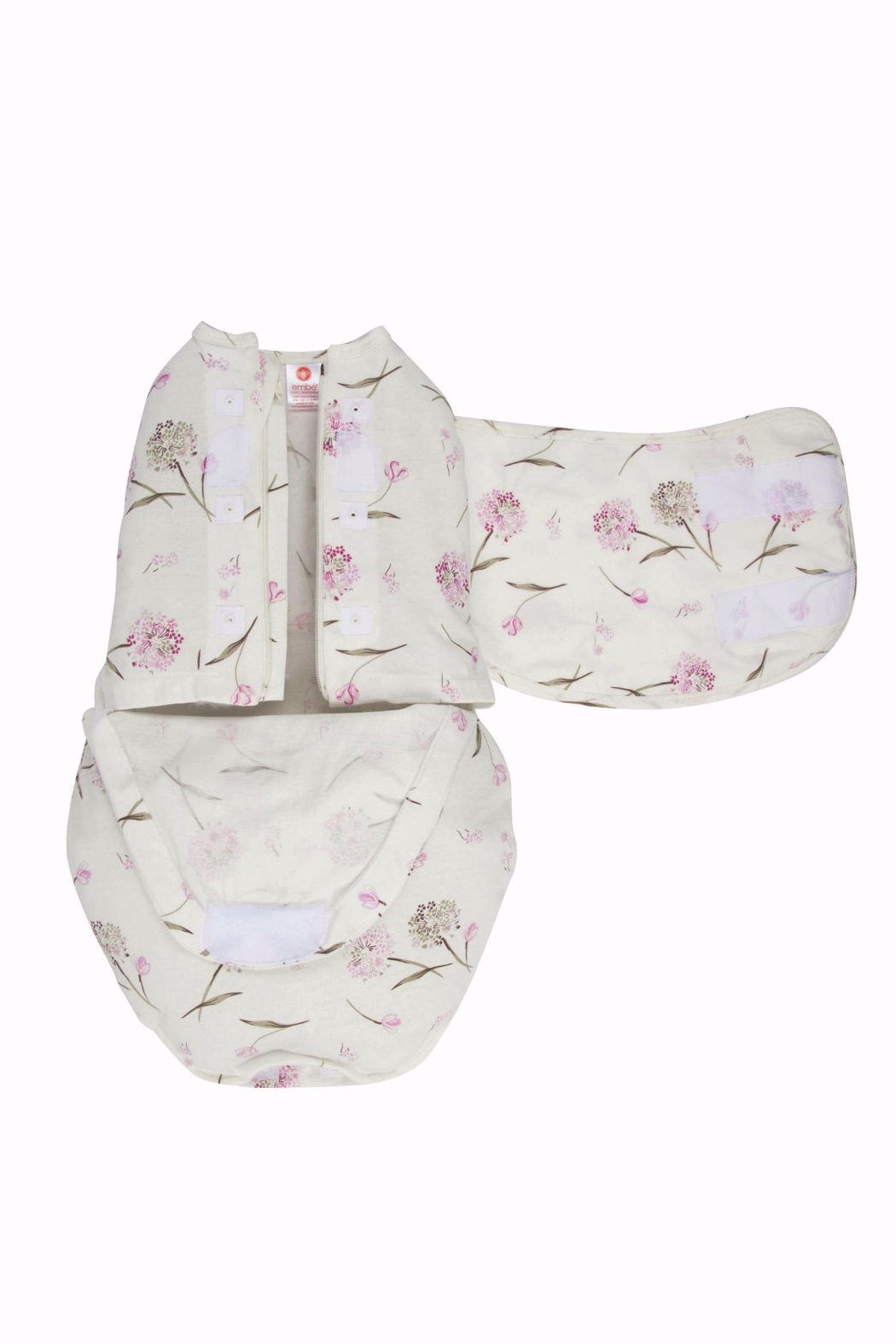 Embe Babies Flowers Swaddle - Front Full Image