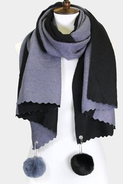 Embellish 2 Color Pom Pom Scarf - Product Mini Image