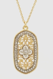 Embellish 2-Tone Filigree Oval Necklace - Product Mini Image