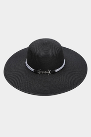 Embellish Anchor Straw Hat - Front cropped