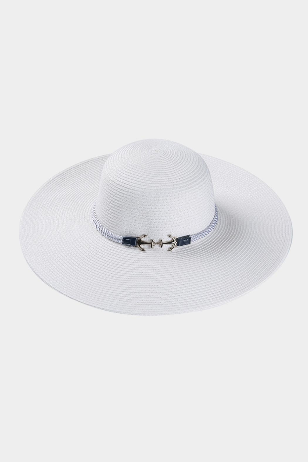 Embellish Anchor Straw Hat - Front Cropped Image