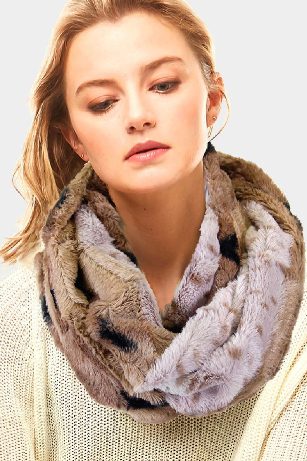 Embellish Animal Faux Fur Infinity Scarf - Main Image