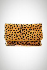 Embellish Animal Fur Clutch - Front cropped